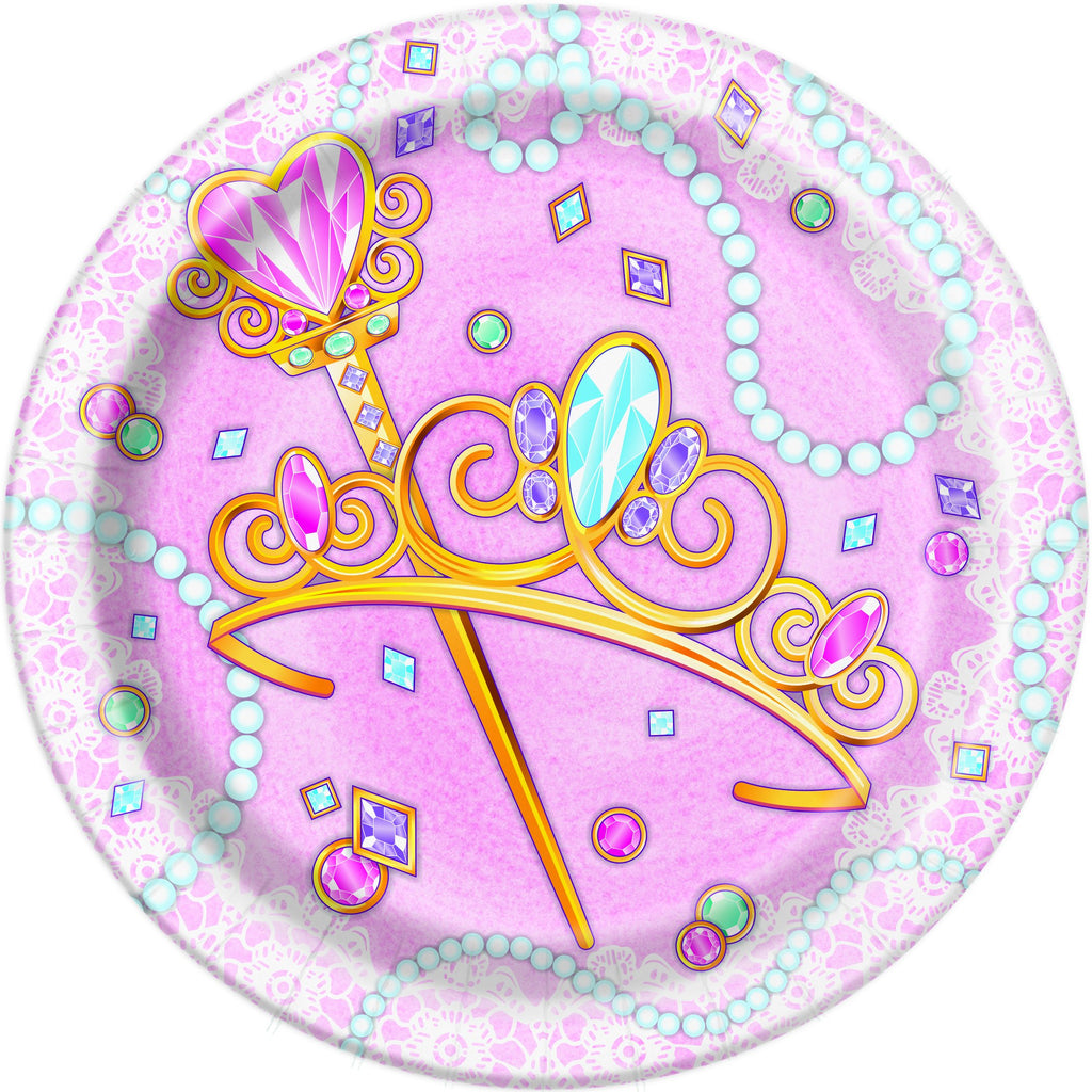 7 in. Pink Princess Paper Plate 8 ct
