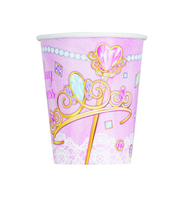 9 oz. Pink Princess  Paper Cups 8 ct