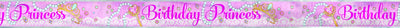 12ft Pink Princess Foil Banner 1ct