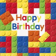 Building Blocks Luncheon Birthday Napkins 16 ct.