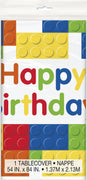 Building Blocks Birthday Tablecover 54 in X 84 in 1 ct.