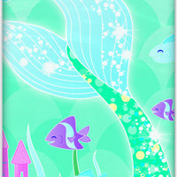 Mermaid Plastic Tablecover 54 in. X 84 in. 1 ct