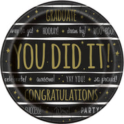 "You Did It! Graduation Round 9"" Dinner Plates  8ct"