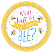 10.5 in Little honey bee dinner paper plates, 8 count