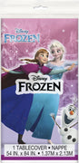 "Disney Frozen Rectangular Plastic Table Cover 54""x84""  1 ct."