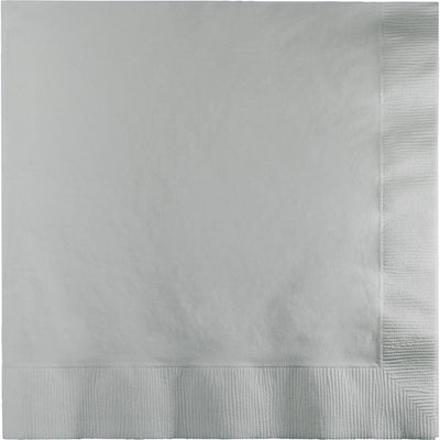 Shimmering Silver Lunch Napkins 50 ct