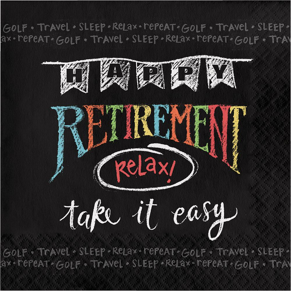 Chalk Retirement Luncheon Napkins 16 ct.