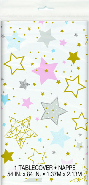 Twinkle Little Star Tablecover 54 in. X 84 in 1 ct.