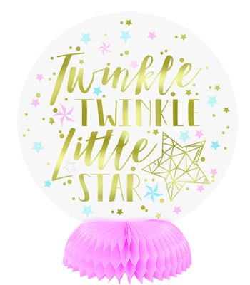 Foil Twinkle Twinkle Little Star Mini Honeycomb Centerpieces  3ct