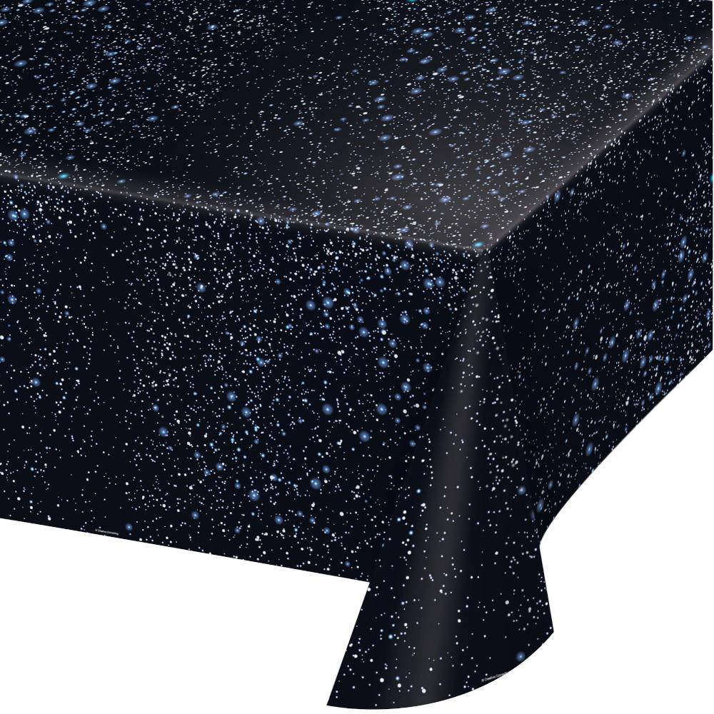 Space Blast Plastic Tablecover 54 in. X 108 in.  1ct.