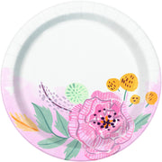 7 in. Floral Bridal Plate 8 ct