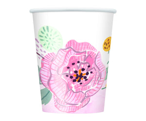 9 oz. Floral Bridal Paper Cups 8 ct