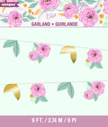 9 ft. Floral Cut Out Banner 1 ct