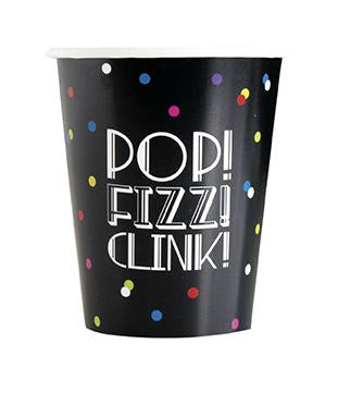 Neon Dots New Years 9oz Paper Cups  8ct