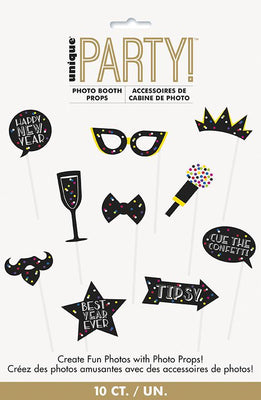 Neon Dots New Years Photo Booth Props  10ct