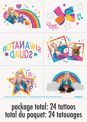 JoJo Siwa Party Temporary Tattoos 1 pkg.