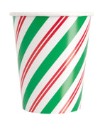 Peppermint Christmas 9oz Paper Cups  8ct