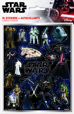 Star Wars Classic Sticker Sheets  4ct