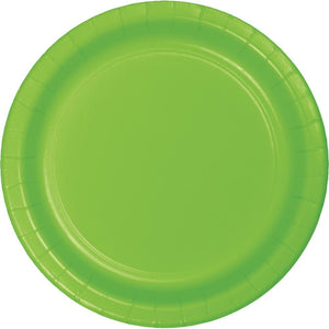 7 in. Fresh Lime Paper Dessert Plates 24 ct