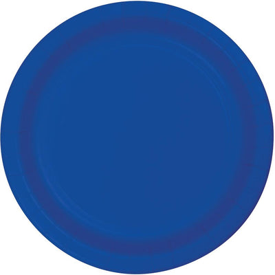 7 in. Cobalt Blue Dessert Paper Plates 24 ct.