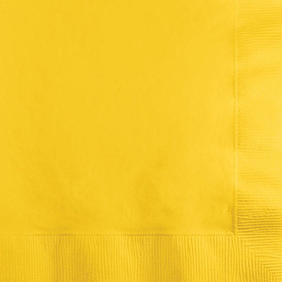 Schools Bus Yellow Beverage Napkins 50 ct.