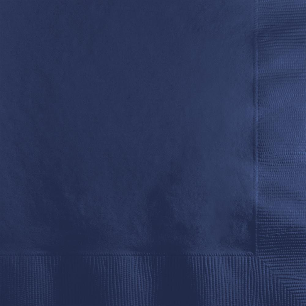 Navy Beverage Napkins 50 ct.