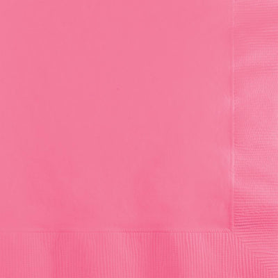 Candy Pink Beverage Napkins 50 ct.