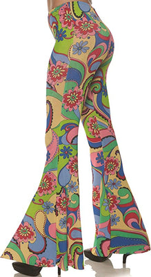 70's Printed Bell Bottoms