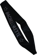 Black Bachelorette Sash with Diamante LOGO  1ct.