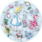 7 in. Disney Alice in Wonderland  Dessert Plates 8 ct.