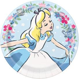 9 in. Disney Alice in Wonderland Lunch Plate 8 ct.