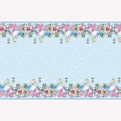 Disney Alice in Wonderland Rectangular Plastic Tablecover 54 in. X 84 in.   1 ct.