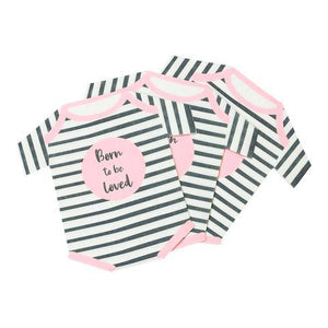 Born To Be Loved Romper Napkins Pink  12 ct.
