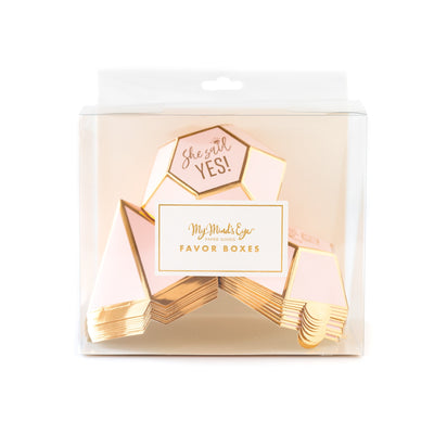 Bride To Be Diamond Shaped Favor Boxes  10 ct.