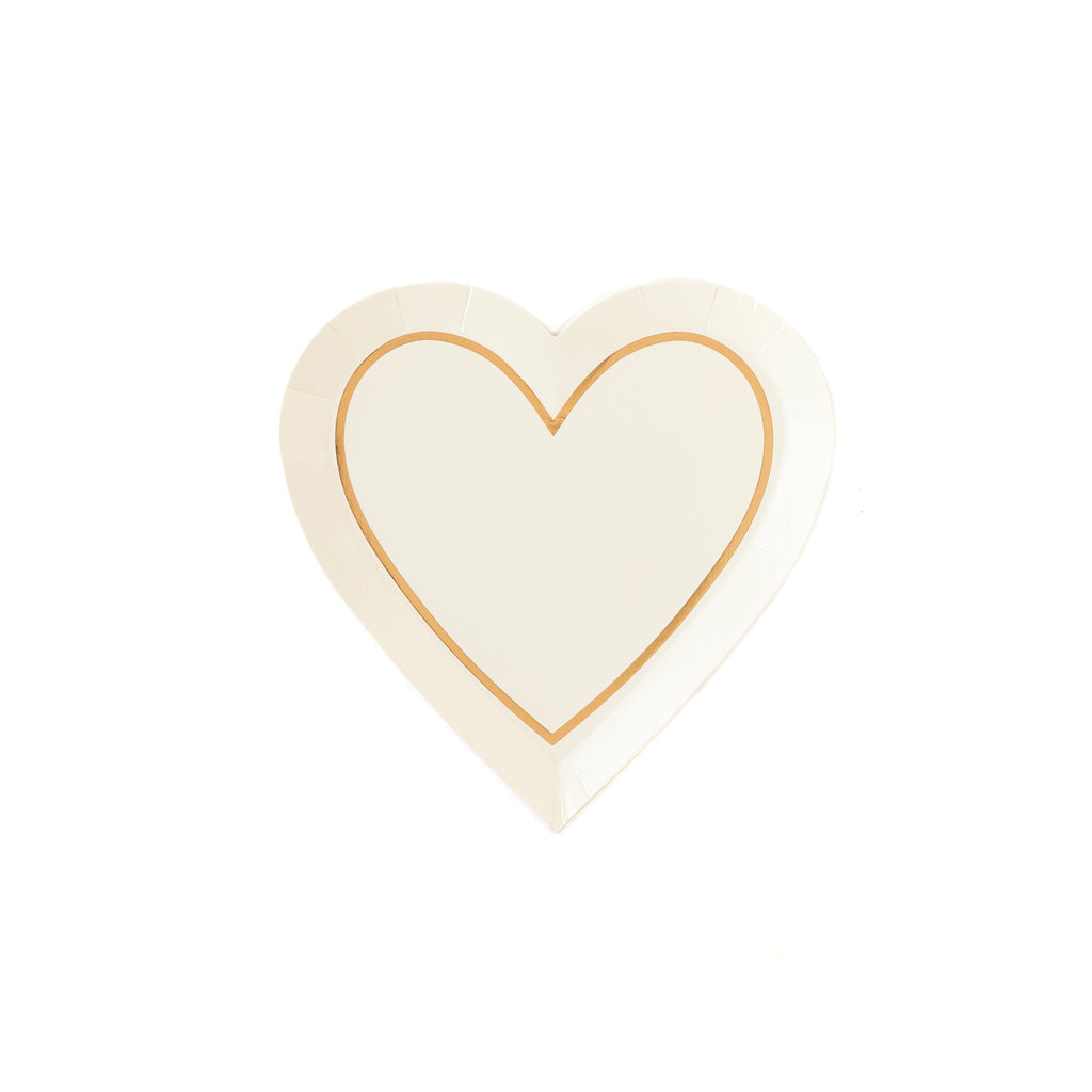 Bride To Be Heart Shape 7 in. Plates 12 ct.