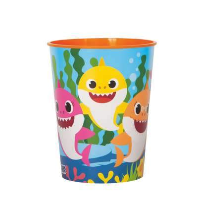 16 oz. Baby Shark Plastic Stadium Cup  1 ct.