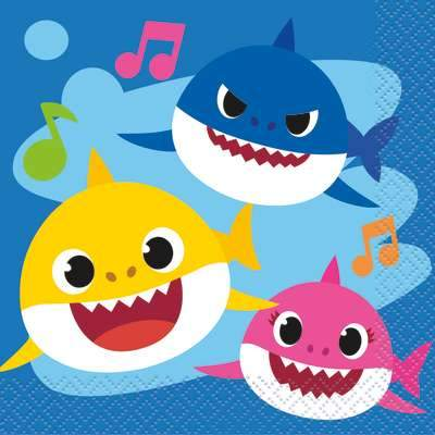 Baby Shark Beverage Napkins 16 ct.