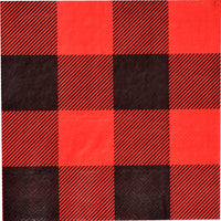 Buffalo Plaid Beverage Napkins