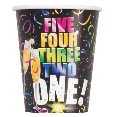Glitzy New Year 9oz Paper Cups  8ct