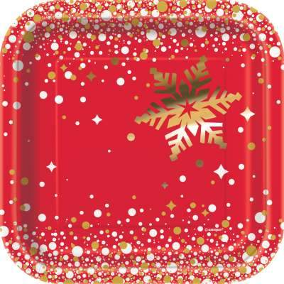 Gold Sparkle Christmas Square 7