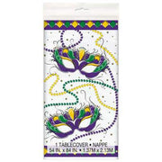 "Jazzy Mardi Gras Rectangular Plastic Table Cover  54""x84"""