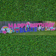 Unicorn Happy Birthday - WEEKEND Yard Card Rental