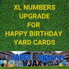 Add-on: XL Numbers on Birthday Yard Cards