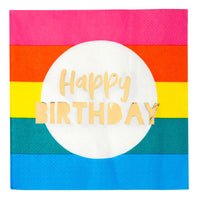 Birthday Brights Rainbow Happy Birthday Napkins  16 ct.