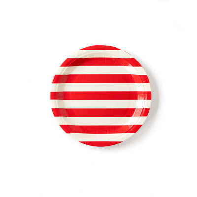 Red and White Striped 9 in. Paper Plates  12 ct.