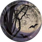 "Spooky Night Round 7"" Dessert Plates  8ct"