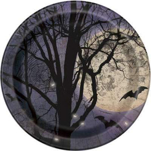 "Spooky Night Round 9"" Dinner Plates  8ct"
