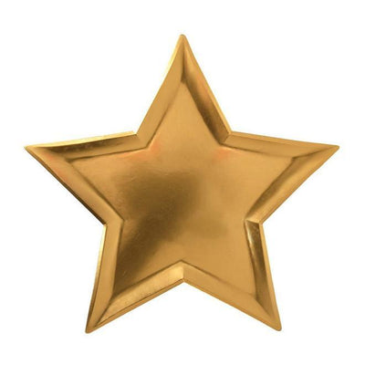 Star Gold Foil Plates  8 ct.