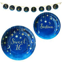 Sweet 16 Starry Night Foil Print Banner 1 ct.