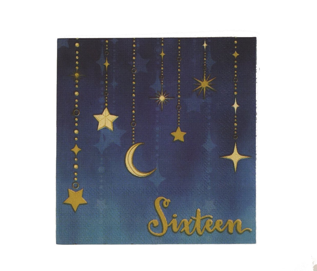 Sixteen Starry Night Beverage Napkins 16 ct.